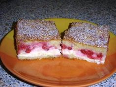 Tvarohový koláč s ovocím - Recepty Naničmama.sk Sweet Recipes, French Toast, Sandwiches, Cheesecake, Food And Drink, Pudding, Sweets, Baking, Breakfast