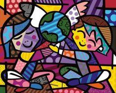 Romero Britto - Peace