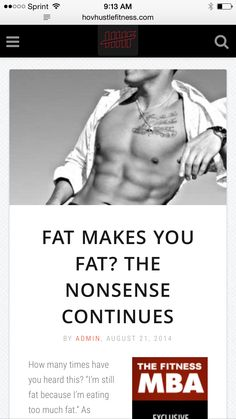 Fat Makes You Fat? The Nonsense Continues - Why You Need Fat In Your Diet -  ➡️http://www.hovhustlefitness.com/fitness/fat-makes-you-fat-the-nonsense-continues/⬅️ #health #fitness #weightloss #nutrition #diet #wellness