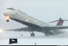 McDonnell Douglas MD-88 aircraft picture   I don't know why but I loved flying this aircraft and look at the beautiful snow,  more air time more on the paycheck.
