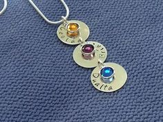 Gifts For Mum, Hand Stamped, Personalized Gifts, Sterling Silver, Chain, Earrings, Jewelry, Ear Rings, Stud Earrings