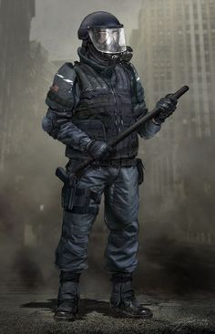 The Last of Us Concept Art - Soldier Militia man! Game Concept Art, Character Concept, Character Art, Apocalypse Character, Apocalypse Art, Last Of Us, Post Apocalyptic Art, Futuristic Armour, Cyberpunk Character