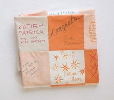The Quilt with Messages - Sign Me: 20 Creative Wedding Guest Book Ideas - EverAfterGuide