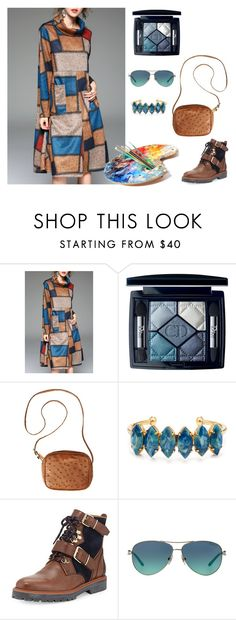 """flowers"" by ohlapislazuli ❤ liked on Polyvore featuring Christian Dior, The Row, Elizabeth Cole, Burberry, Tiffany & Co., cool, Blue, boho and Original"