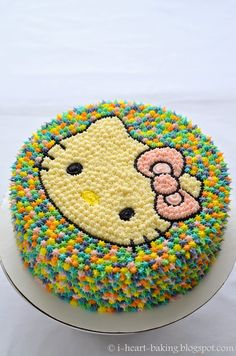 i heart baking!: large pastel hello kitty pom pom cake
