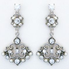 Check out the deal on Vintage Bridal Chandelier Earrings at Perfect Details Wedding Earrings, Wedding Jewelry, Bridal Jewelry Vintage, Chandelier Earrings, Jewelry Trends, Bridal Accessories, Fashion Jewelry, Filigree Design, Cheryl