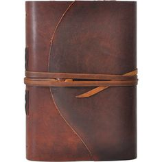 Dark Walnut One of a Kind Handmade Leather Journal (275 BAM) ❤ liked on Polyvore featuring home, home decor, stationery, fillers, books, notebooks and other