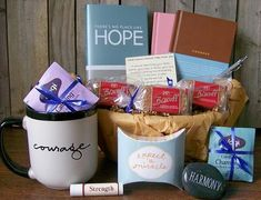 Thoughtful items to provide comfort and inspiration during illness. / Image via cancergifts.com
