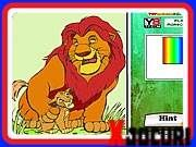 Color your two favorite lions of all time Simba from the movie The Lion King the way you wanted. Princess Coloring, Alley Cat, Online Coloring, Jonas Brothers, Jungle Animals, School Colors, The Simpsons, Pixel Art, Games To Play