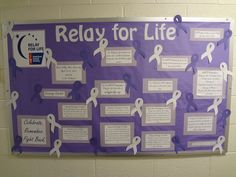 Relay for Life bulletin board: perfect idea for RAs