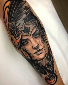 Fede Almanzor Pop Art Tattoos, Head Tattoos, Badass Tattoos, Tattoo Drawings, Tatoos, Lil B Tattoo, Neo Tattoo, Tattoo Sleeve Designs, Sleeve Tattoos