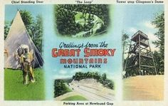 Great Smoky Mts Nat'l Park, Tennessee - Chief Standing Deer, Loop, Clingman's Dome Tower