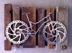 Fahrrad aus Fahrradteilen