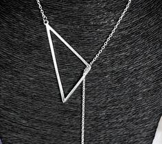 Kit diy tour de cou / collier / sautoir graphique fine goutte et triangle et…