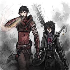 Tadashi and Hiro. #DarkpathAU #runescratch