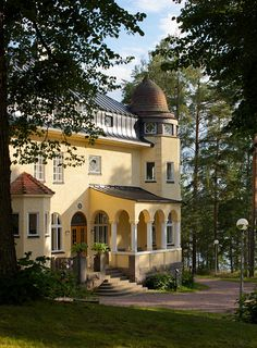 In Ruokolahti, eastern Finland is situated this jugend style manor, now a high class hotel that used to be a residence of Alexandr Oldenburg of the famous Romanov family