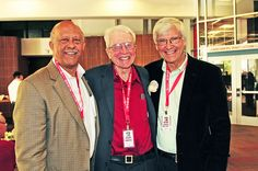 Dean Wilson and Dean Emeritus Cowan send-off professor Bryce Nelson after 30 years at ASCJ!