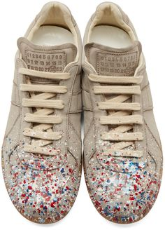 Maison Margiela Grey Suede Painter Replica Sneakers