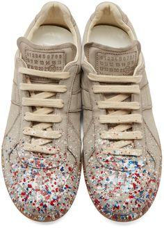 Maison Margiela Grey Suede Painter Replica Sneakers