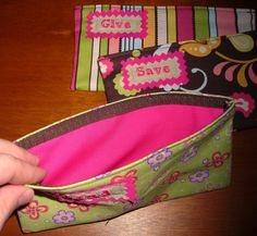 Kids Give, Save, Spend Cash budget Envelopes with Velcro (can be used with Dave Ramsey system). $24.00, via Etsy.