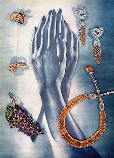 Verdura (Jewels) 1945 Cartier, Rubel, Mauboussin, Laykin, Ear-Clips Olga Tritt