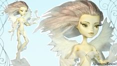 How to: Air nymph / Elemental Fairy Doll - Monster High Figurine Repaint...