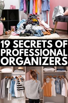 19 Secrets of Professional Organizers | While your business goals may not include learning how to become a professional organizer by trade, chances are you want to know how to be a more organized person. We're sharing 19 tips professional organizers swear by to help you declutter your living space and learn how to be more organized at home once and for all. #organizationtips #decluttertips Deep Cleaning Tips, House Cleaning Tips, Spring Cleaning, Cleaning Hacks, Cleaning Closet, How To Be More Organized, Be Organized, Getting Organized At Home, H & M Home