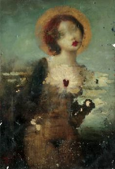 Stephen Mackey - Pendant Heart Hole, watercolour, acrylic, oil and varnish on paper