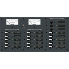 Blue Sea 8378 DC 18 Position Panel - White - https://www.boatpartsforless.com/shop/blue-sea-8378-dc-18-position-panel-white/