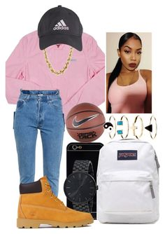 • Back To School • by outofchange on Polyvore featuring moda, Members Only, Vetements, Timberland, JanSport, Vestal, Accessorize and NIKE