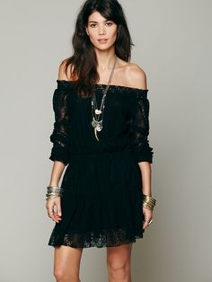 Free People Hanshaw Off Shoulder, $128.00  this comes in ivory as well <3 it!!!