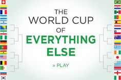 A graphic: The World Cup of Everything Else - How the tournament would play out if 32 countries were competing in things other than soccer.