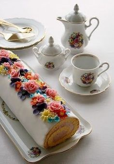 A very elegant afternoon tea version of the Swiss Roll.