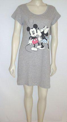 Disney Nightgown Sleepwear size Medium & XL MINNIE Kissing MICKEY Mouse Sleep Dress #nightgowns ebay 400842926705