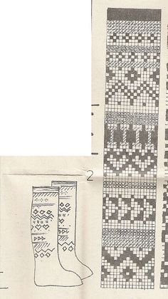 sock pattern (With images) Fair Isle Knitting Patterns, Knitting Charts, Knitting Stitches, Knitting Designs, Mittens Pattern, Knit Mittens, Knitting Socks, Hand Knitting, Crochet Motifs