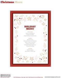 free editable printable christmas menu courtesy of botanical paperworks 12 weeks of