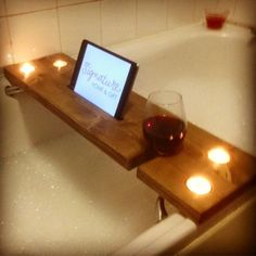 Our solid wooden bath tray, with a luxurious contemporary feel. Handcrafted from Prime Redwood pine we have a our new bath tray to enhance your bath time. This classic yet modern attractive wooden bath tray can be filled with all your bath time favourites as well as your iPad, a glass of wine and a run of tea lights candles to help with the mood lighting. Our wooden bath tray can be customised with all these little extra special touches to make your 'Me Time' whilst soaking in the tub more…
