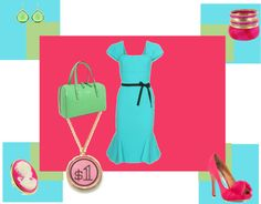 rosa blu il colore verde, created by cristina1207 on Polyvore