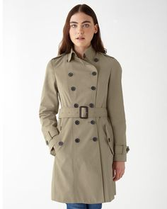 Timeless trench coat flawlessly cut from pure cotton. Double-breasted closure, epaulets, hook-fastening collar and detachable belt with D-ring buckle to cinch the waist for a sleek silhouette. We love how this coat is flourished with classic features to keep you in permanent style.