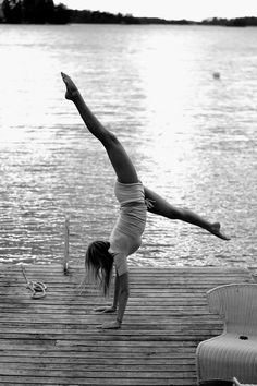gymnastics on docks. my childhood!