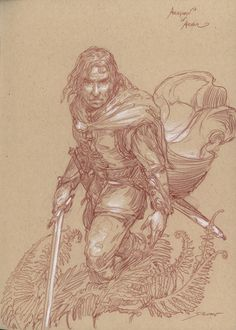 Donato Giancola - Lettered Edition - S - Aragorn in Arnor - drawing