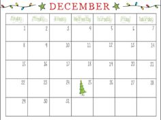 December Calendar 2019 Christmas 12 Best December 2019 Printable Calendar images