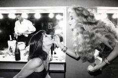 Anjelica Huston and Jerry Hall, ca. 1970s