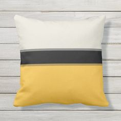 Ad: ... #contemporary #modern #stripe #striped #pattern #space #silver #gray #grey #dust #beige #ivory #cream #tan #trendy #trend #stylish #fashionable #chic #abstract #multicolor #dark #navy #blue #black #mustard #butter #lemon #pineapple #banana #yellow #white #outdoorpillow Mustard Yellow, Yellow Outdoor Furniture, Black Stripes, Grey, Beige, Outdoor Pillow, Designer Throw Pillows, Backyard Patio, Modern