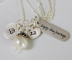 College Graduation NEcklace Graduation Gift by whiteliliedesigns, $49.50