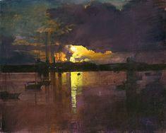 "urgetocreate: "" John Raynes, Dawn Falmouth Docks I, 2012 """