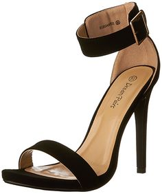 DREAM PAIRS ELEGANTEE Womens Evening High Heels Open Toe Ankle Strap Platform  Casual Stiletto Pumps Sandals