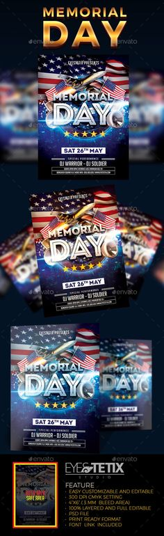 Spring Party Flyer Template PSD. Download here: http://graphicriver ...