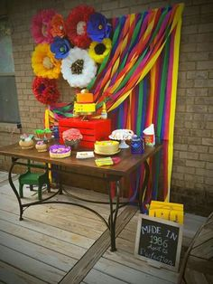 Mexican fiesta party cake table