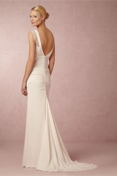 Alexis Gown from BHLDN - not a huge fan of the lace on the sleeves ... or the $1200.00 price tag! But it's good for inspiration.